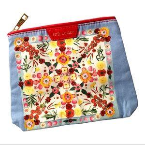 NWT Estée Lauder Summer Floral Cloth Makeup Bag